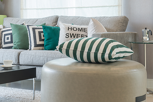 Eye catching interior design accessories used in home staging.
