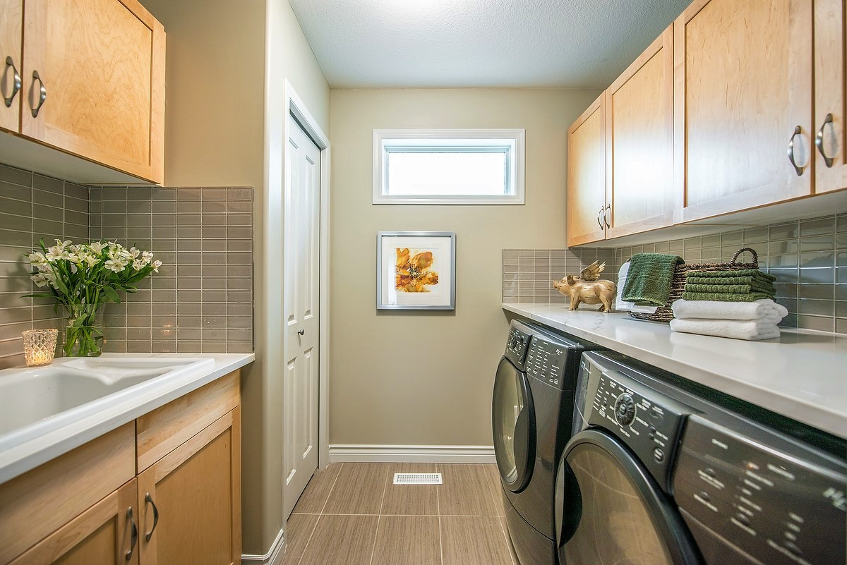 Laundry room makeover, interior design & interior decor