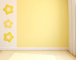 Interior decorating and painting with the color yellow , a bright and cheery choice.