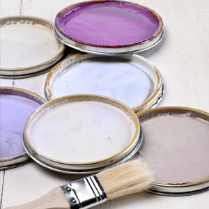 Various shades of the color purple and the influence the have on interior decorating your home.