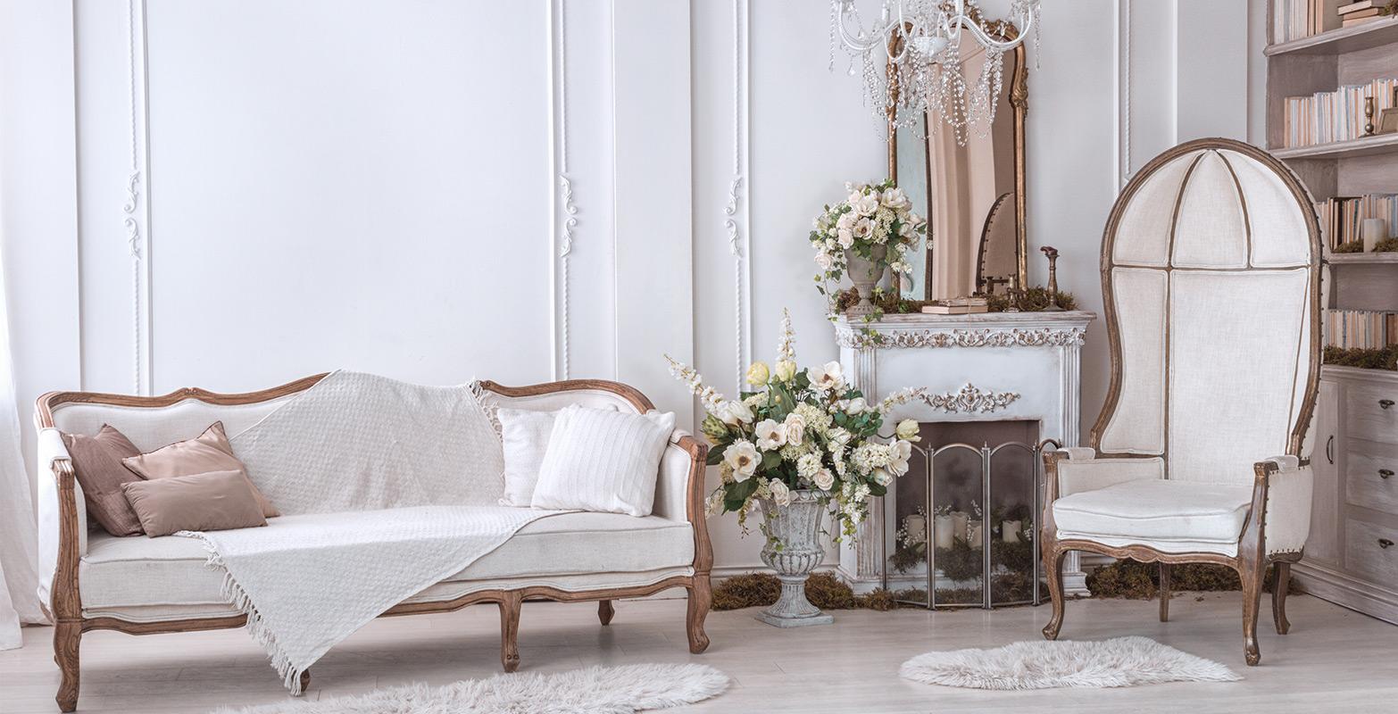 Front shot of a living room set